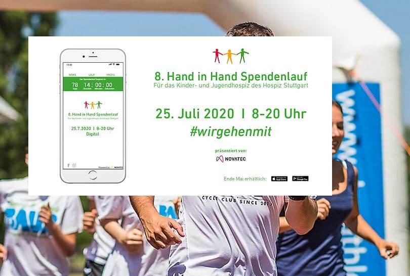 Hand in Hand Spendenlauf für das Kinder- und Jugendhospiz des HOSPIZ STUTTGART in diesem Jahr überall per App